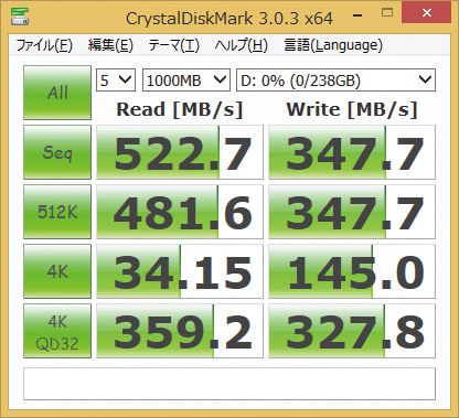 ※CT256MX100SSD1を使用