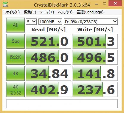 ※VTX460-25SAT3-240Gを使用