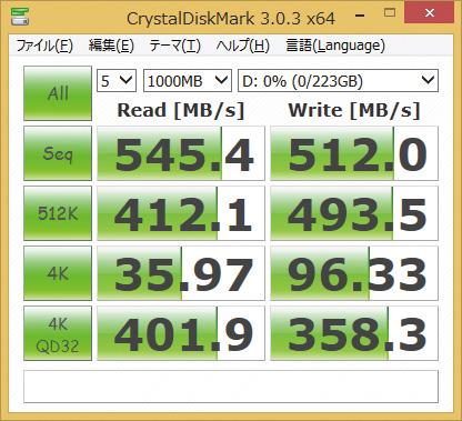 ※ SDSSDXPS-240G-G25を使用