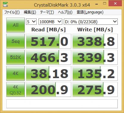 ※SP240GBSS3S60S25を使用