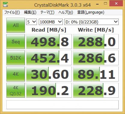※SSDSC2BF240A5を使用