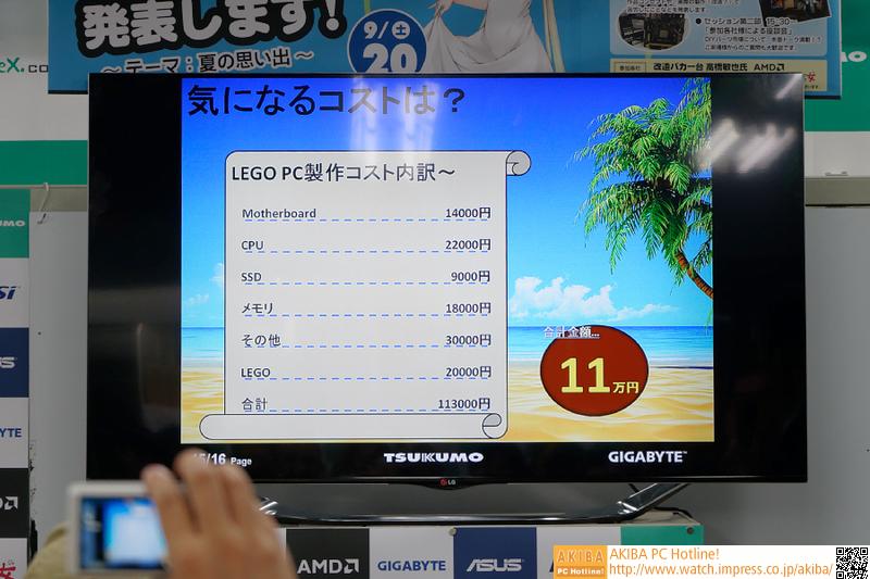 気になるコストも公開された。大人買いしたLEGOのコストは20000円