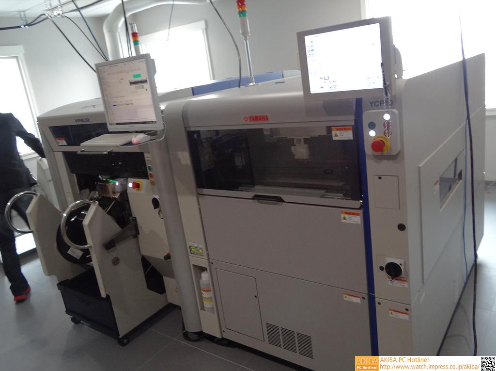 チップマウンターと自動ハンダ印刷機