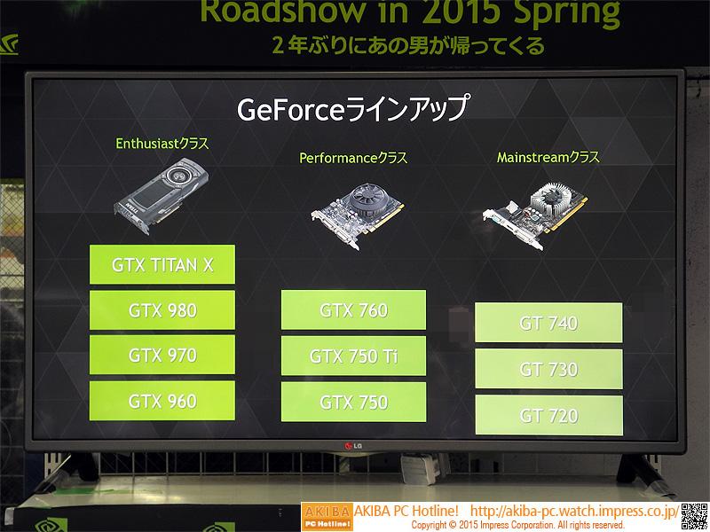 GeForceのラインナップの説明も。