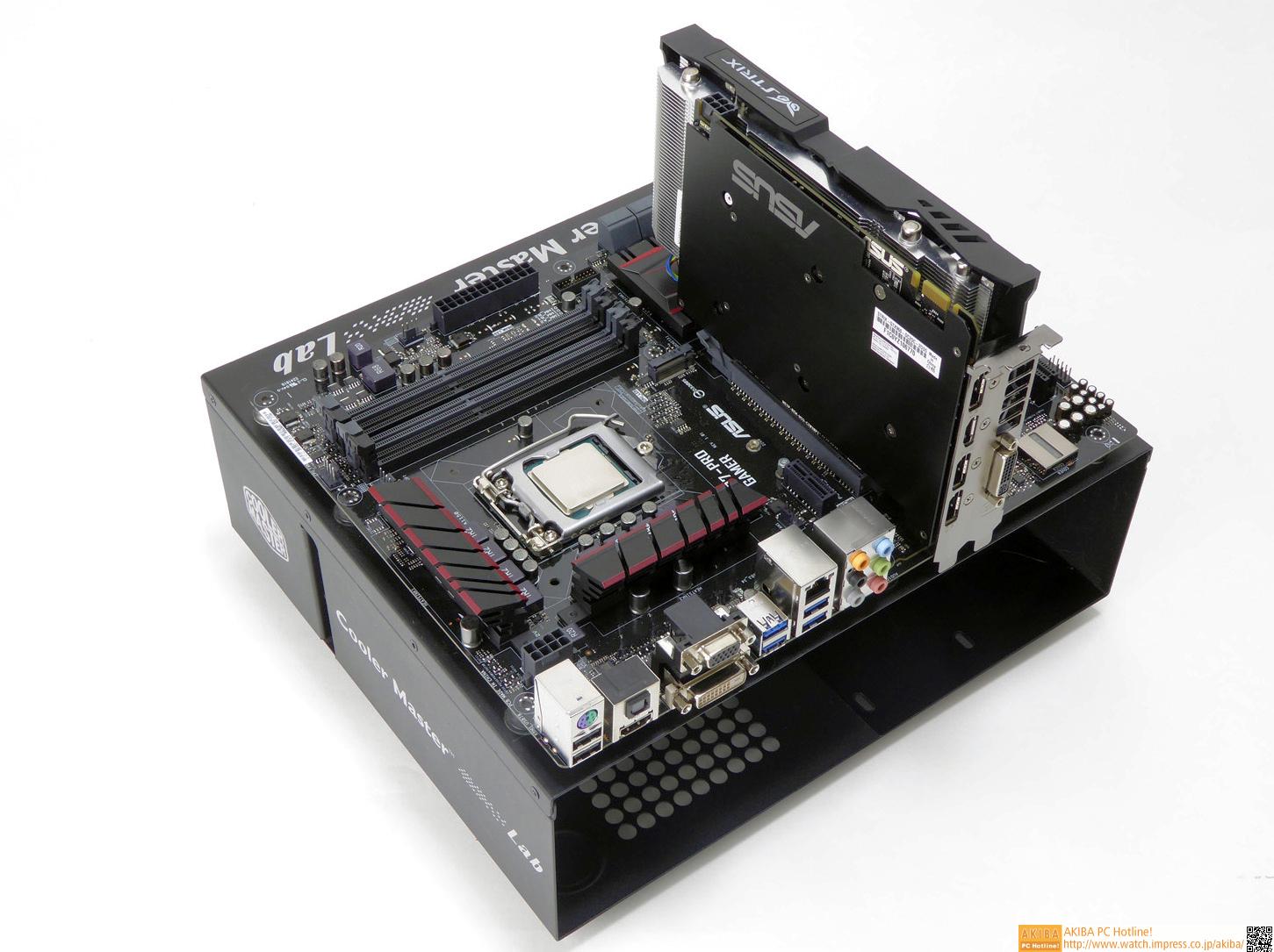 Intel Core i7-4790K、ASUSTeK H97-PRO GAMER、ASUSTeK STRIX-GTX960-DC2OC-2GD5を組み合わせた今回の最上位構成