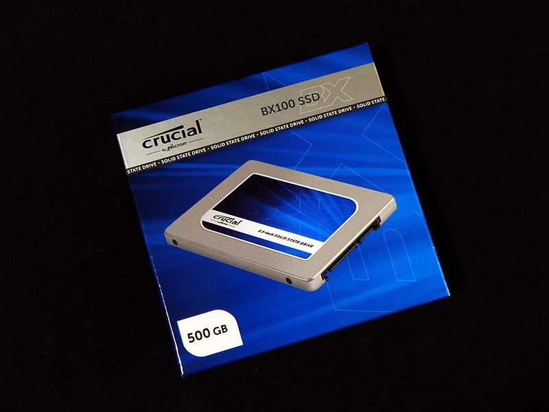 Satellite B450/Cのスペックを考慮し、今回もCrucialのメインストリーム向けSSD「BX100シリーズ」を選択した。