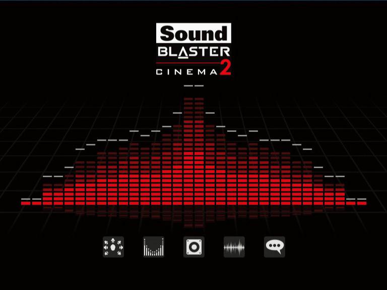 Creativeの音響効果アプリ「SoundBlaster Cinema 2」が付属しており、臨場感あるゲームサウンドを楽しむことができる