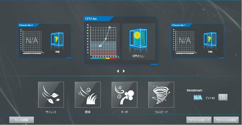 各種ファンの回転数を細かく制御できるユーティリティ。マシンのハードウェア構成に適した静音化を行なうことができる