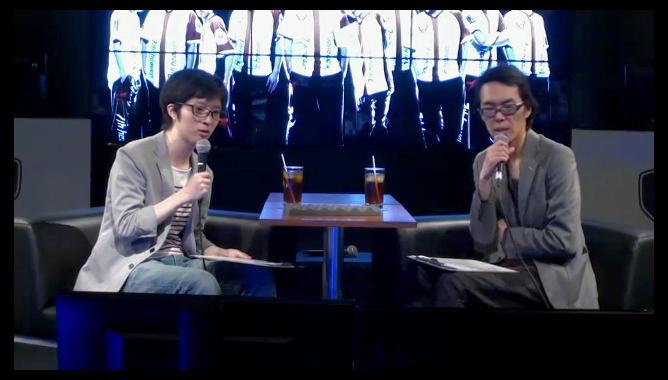 番組は2人の対談形式で進行した