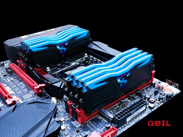動作温度によってLEDカラー変わるDDR4メモリ「GeIL SUPER LUCE」シリーズ