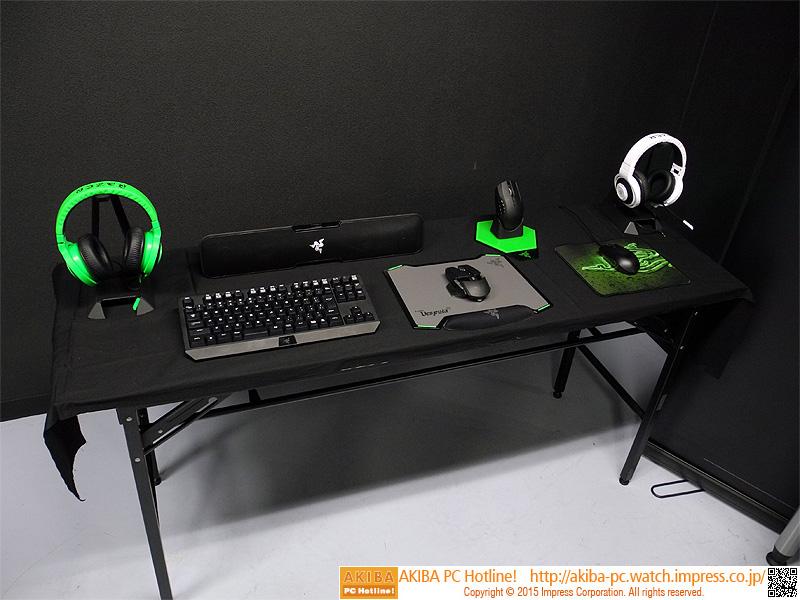 PCに接続されていない機器も自由に繋いで試すことができる。