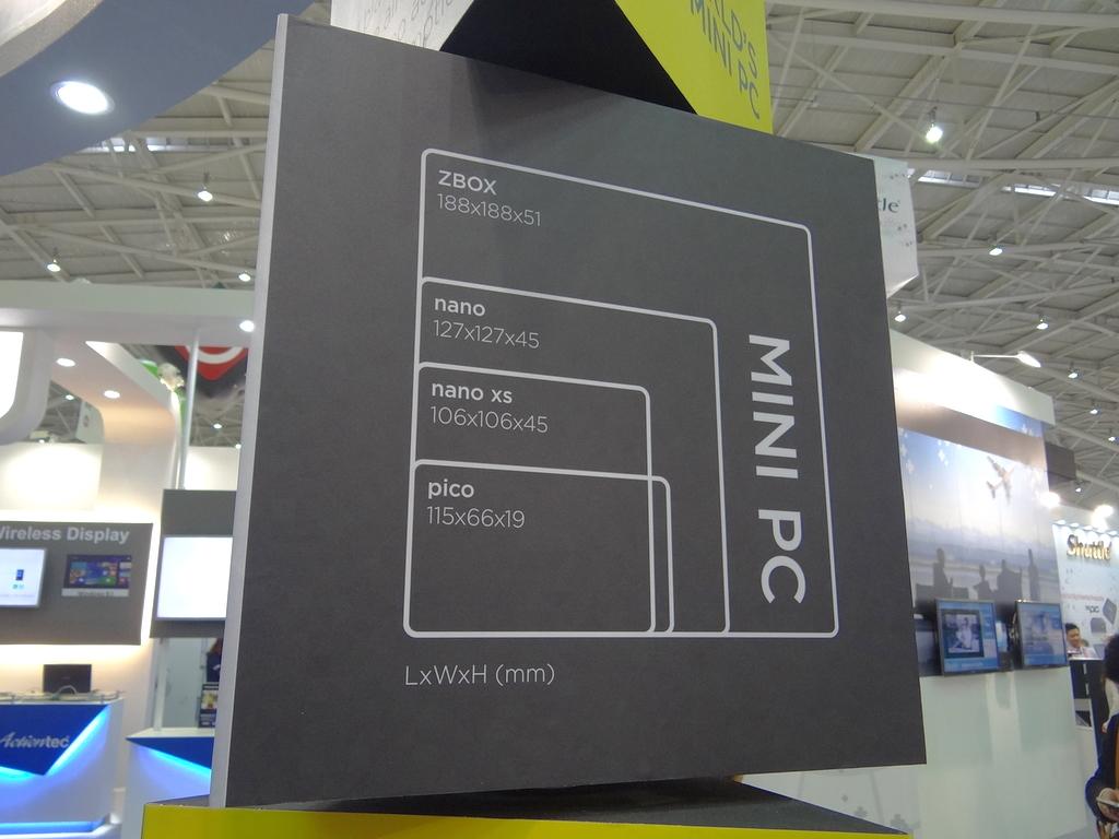 ZBOXシリーズのサイズ比較図