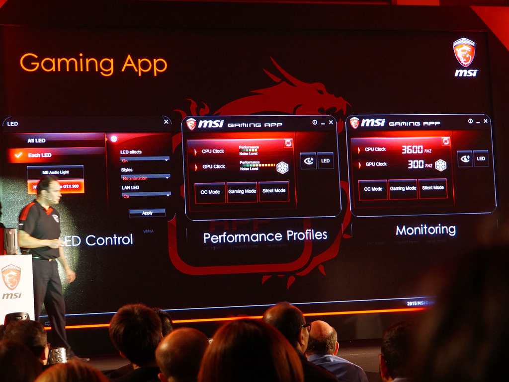 独自のOCアプリ「Gaming App」によりオーバークロックやLEDのカスタマイズができる