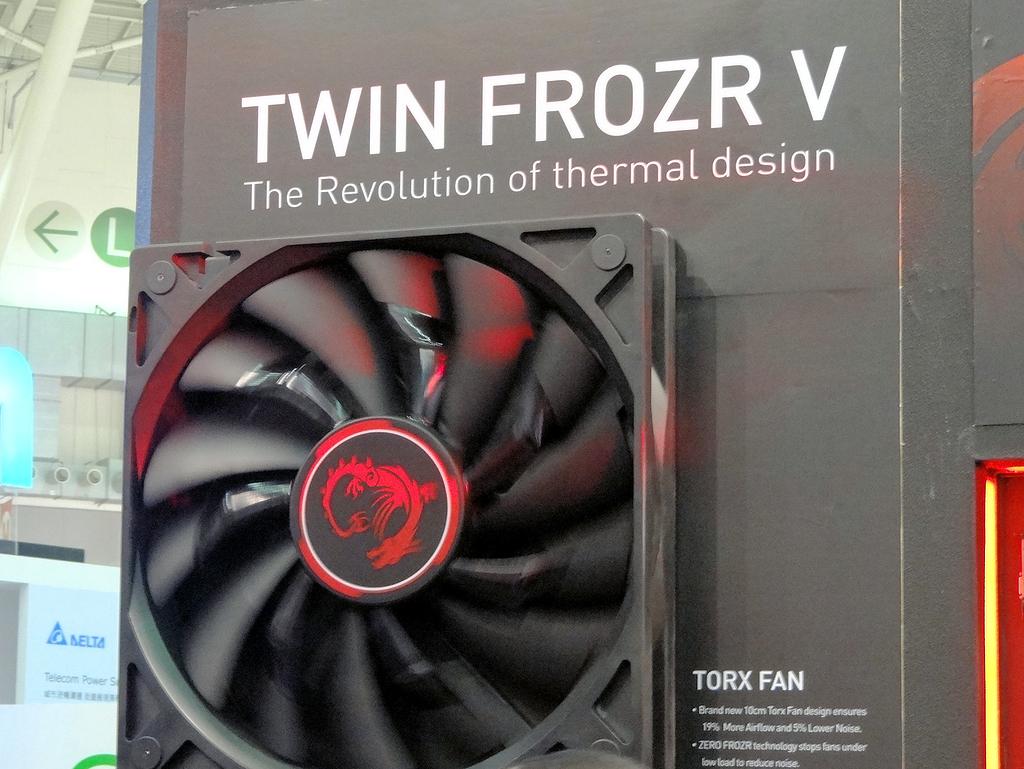 Twin Frozrのアピールにも力が入っていた。