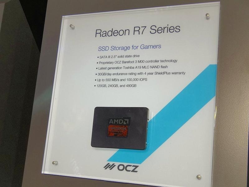 ゲーマー向けSSDをうたう「AMD Radeon R7 SSD」