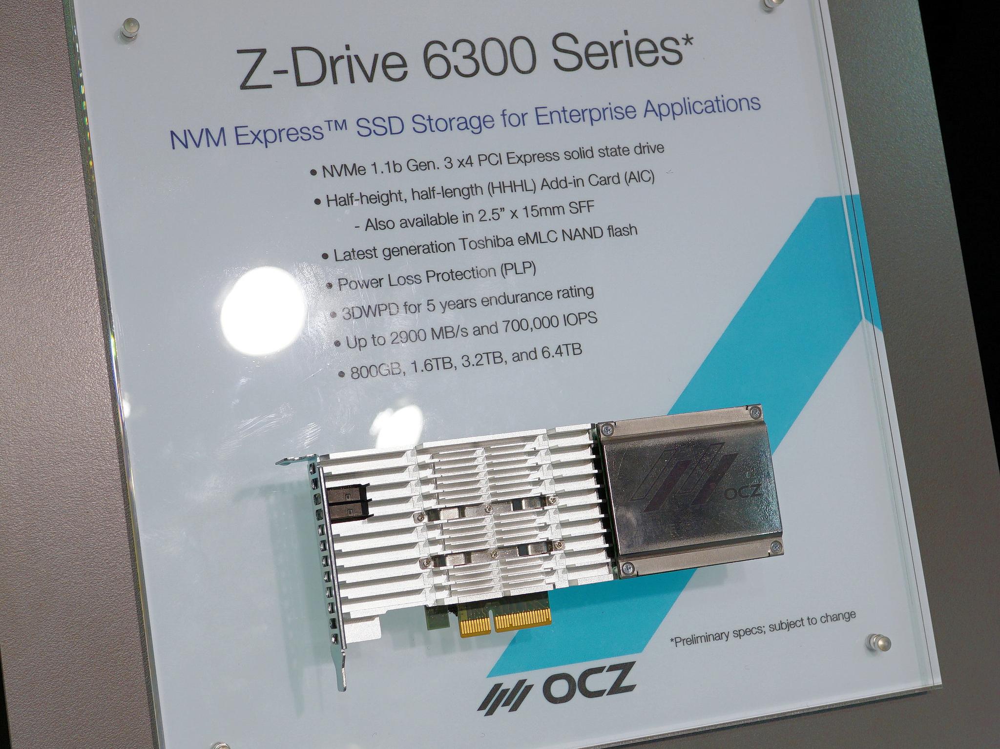 OCZと言えば、その最上位はエンタープライズ向けSSDの「Z-Drive」シリーズ