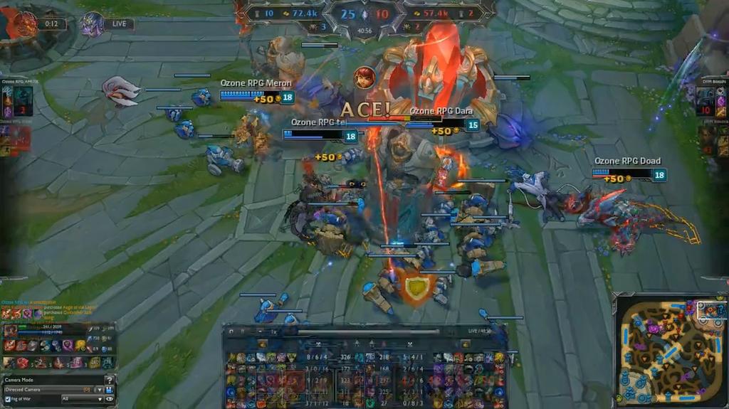激しい戦いを勝ち抜いたのはOzone Rampage。写真はOzone RampageがDetonatioN FocusMeを全滅させた瞬間。