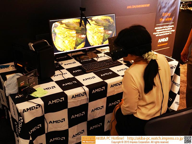 Radeon R9 Fury Xを使ったOculus Riftのデモ