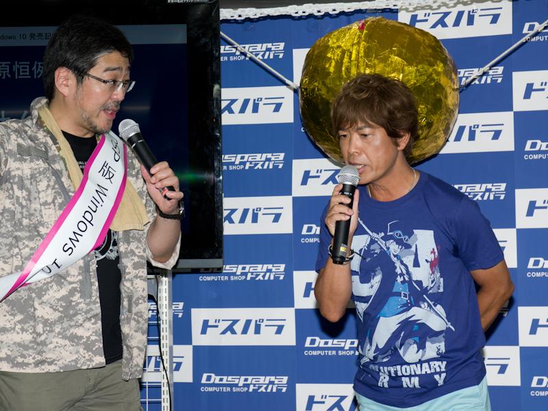 ドスパラ店内イベントでは声優の古谷徹氏が登壇