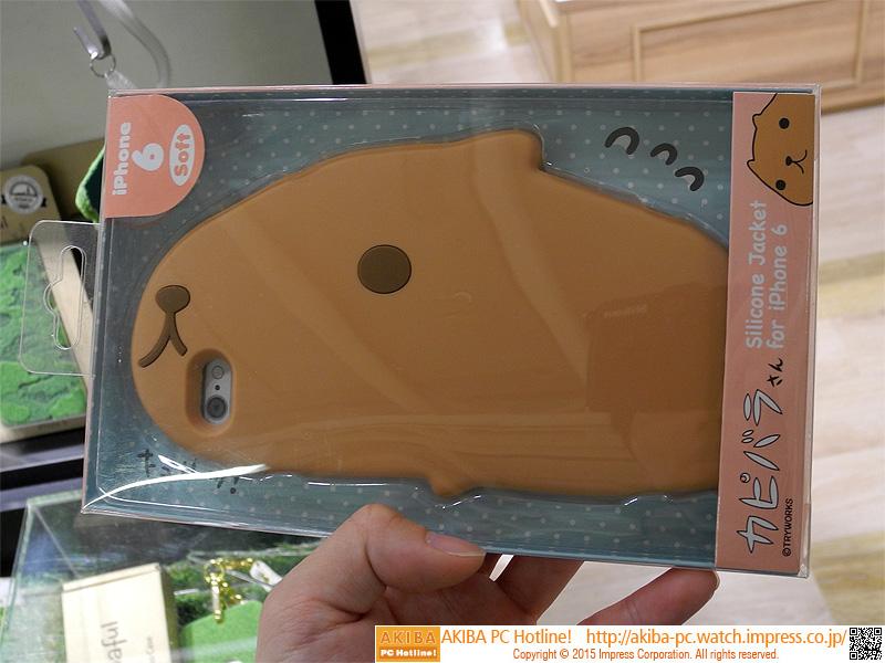 """カピバラさんiPhone 6ケース<br class="""""""">【関連記事】:(<a class="""""""" href=""""http://akiba-pc.watch.impress.co.jp/docs/wakiba/find/20150410_697123.html"""">1</a>)"""