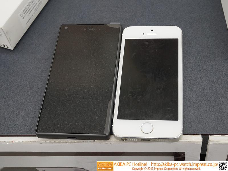 iPhone 5sとの比較