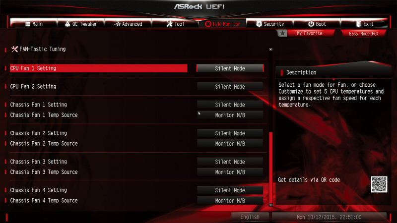 CPUクーラーと2基のファンをSilent Modeに設定することで静音化を図ってみた
