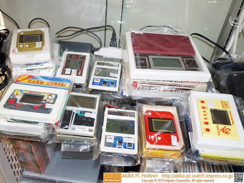 懐かしの電子ゲーム機が多数販売中