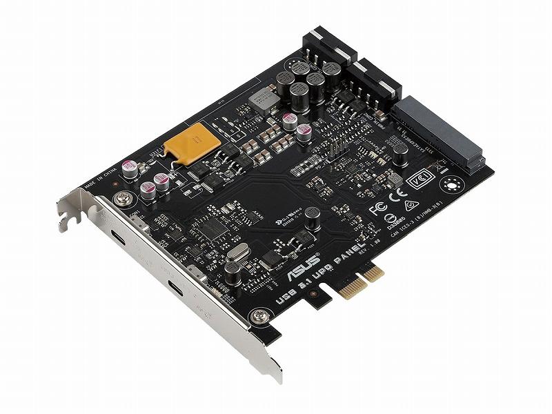 基板単体使用時はPCI Expressx1スロットに装着する(端子自体は固定用のダミー)