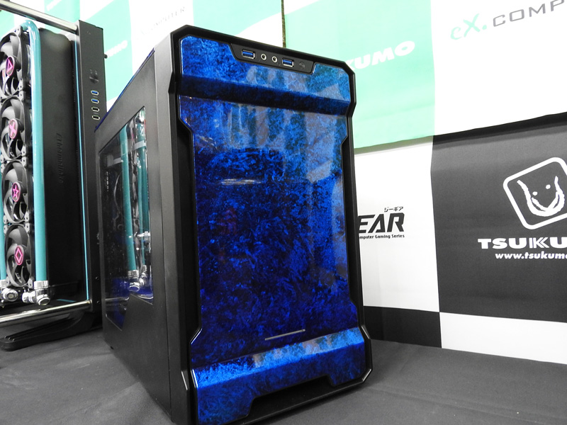 Hidehaya氏が作成した「5台目水冷PC」。Hidehaya氏はMSIの大ファンだそうで、基本的にMSIのパーツを使ってPCを作成している