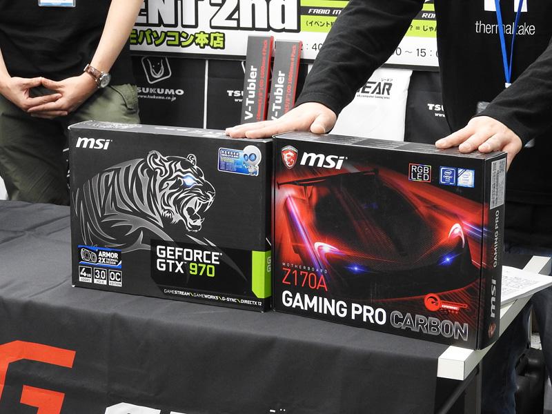 今回作成するMOD PCでは、マザーボードとしてMSIの「Z170A GAMING PRO CARBON」を、グラフィックカードとしてMSIの「GTX 970 4GD5T OC」を利用する