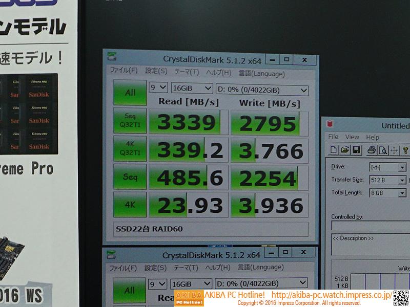 RAID60環境時