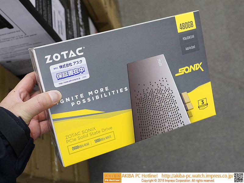 リード2,600MB/sのZOTAC製PCIe拡張カード型SSD「SONIX P3400 SSD PCIe」