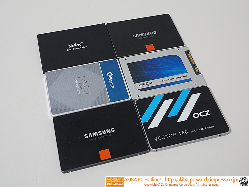 Netac N550S + Plextor M6V + Samsung SSD 840 + Samsung SSD 840 PRO + Crucial MX100 + OCZ Vector 180