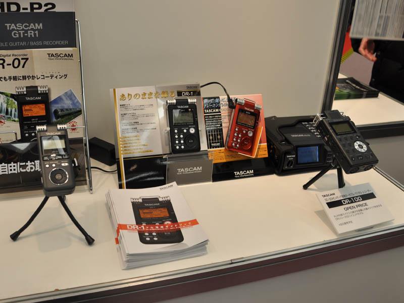 TASCAMはDR-1などだけでなく、新モデル「DR-100」を参考展示