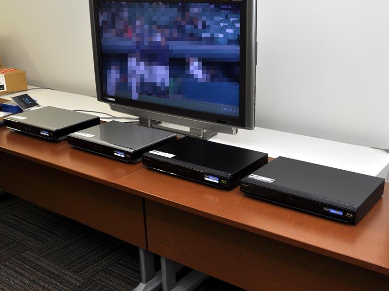 新AQUOSブルーレイ、左からBD-HDW40、HDW35、HDW32、HDS32