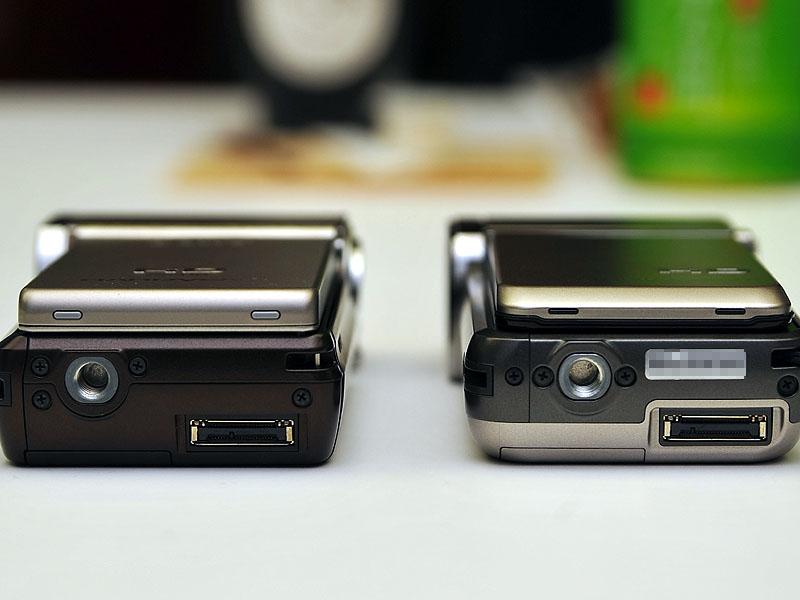 厚さ比較。左がTG1、右がTG5V