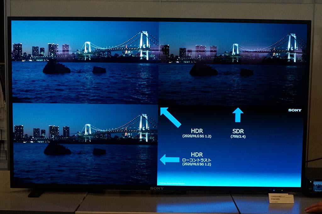 HDRとSDRを1画面で比較表示できる