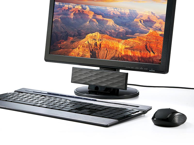 PCの画面下などに置くことも可能