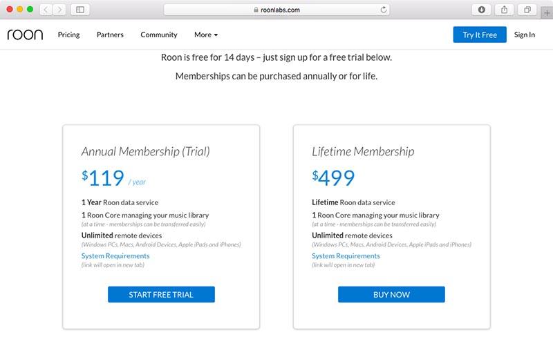 499ドルを支払い半永久的なメンバーシップを手に入れるか、とりあえず1年の利用権を手に入れるか、どちらかを選ぶ