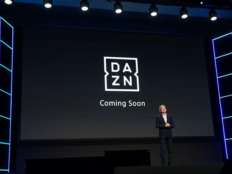 「DAZN」にも近日対応予定