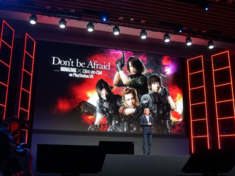 "Don't be Afraid -Biohazard × L'Arc-en-Ciel on PlayStation VR-<BR><span class=""fnt-70"">(C)Ki/oon Music (C)CAPCOM CO., LTD. (C)Sony Interactive Entertainment Inc.</span>"