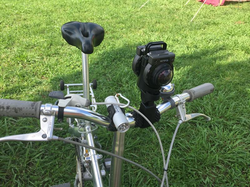 ハンドルマウントで自転車に搭載