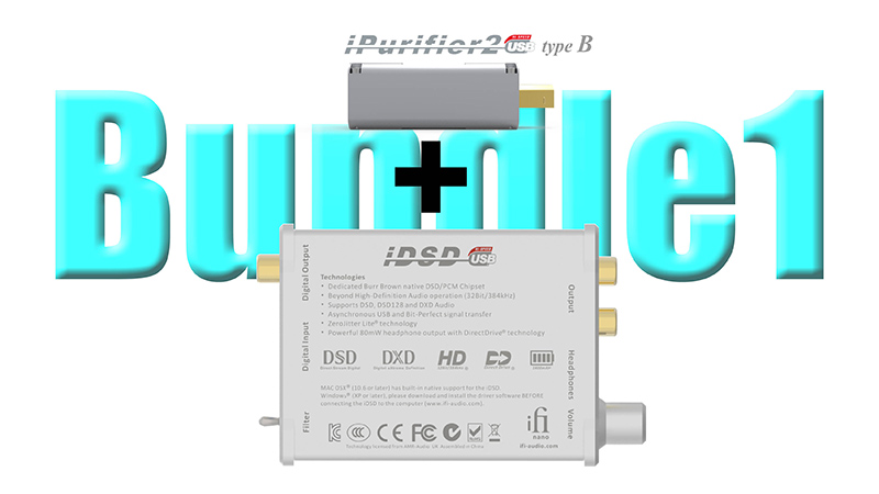 「nano iDSD」と「iPurifier2」セット