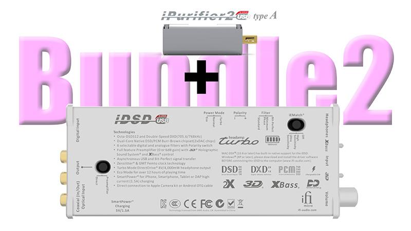「micro iDSD」と「iPurifier2」セット