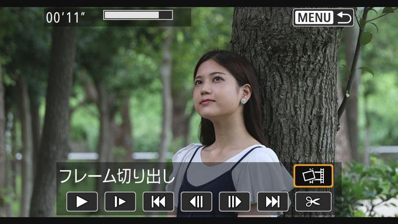 4K動画からのフレーム切り出しも可能