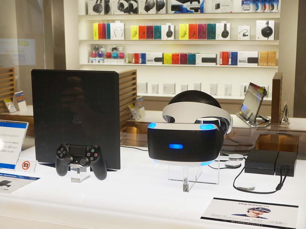 ゲームコーナーでは、PlayStation 4 PROのショーケース展示とPlayStation VRを展示