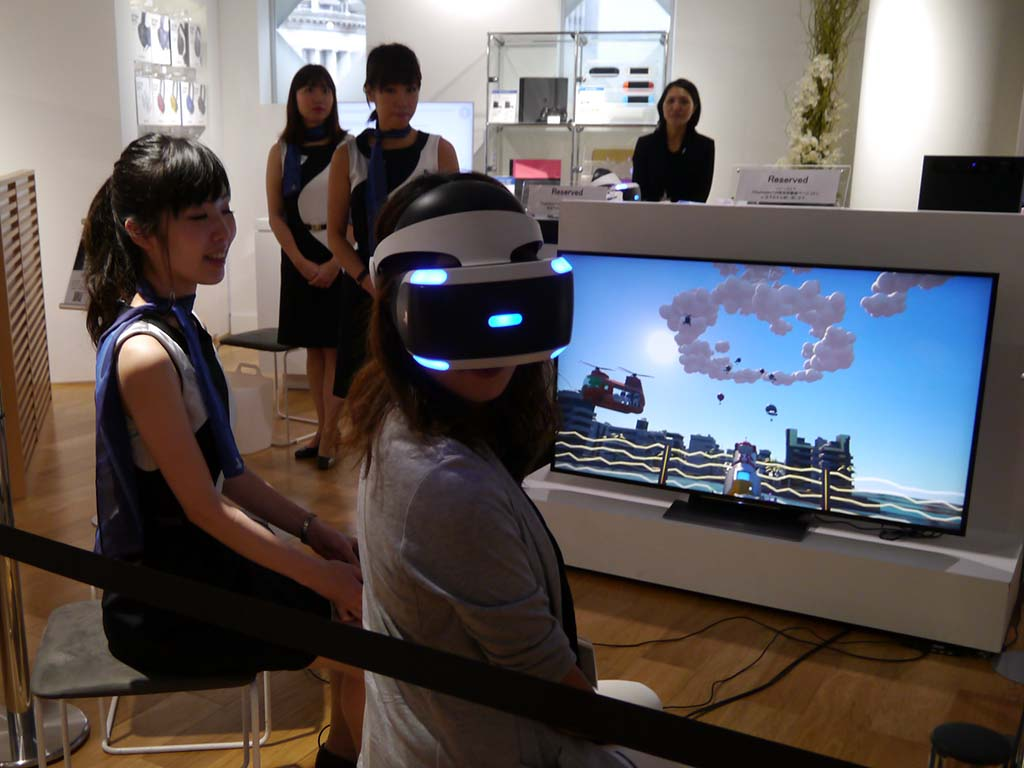 PlayStation VRの体験も行なえる