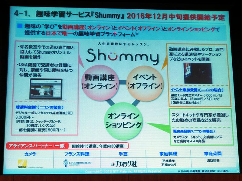 趣味学習サービス「Shummy」を12月中旬提供開始。ニコンによるデジカメ基礎講座など計30講座を年度内ラインナップ