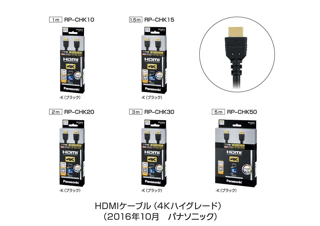 4KハイグレードタイプHDMIケーブル(RP-CHKシリーズ)
