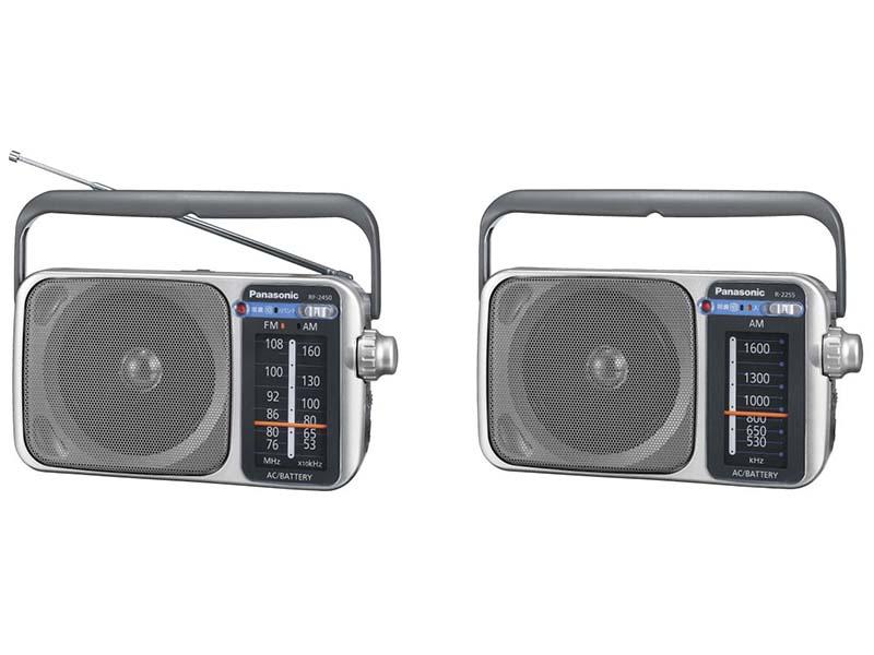 リビングラジオのRF-2450(左)、R-2255(右)
